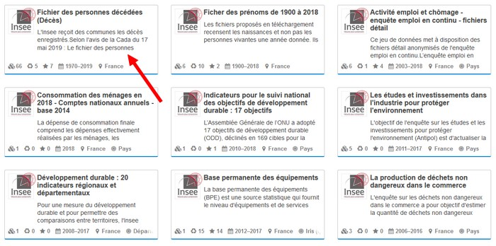 Fichiers décès INSEE - Bases INSEE