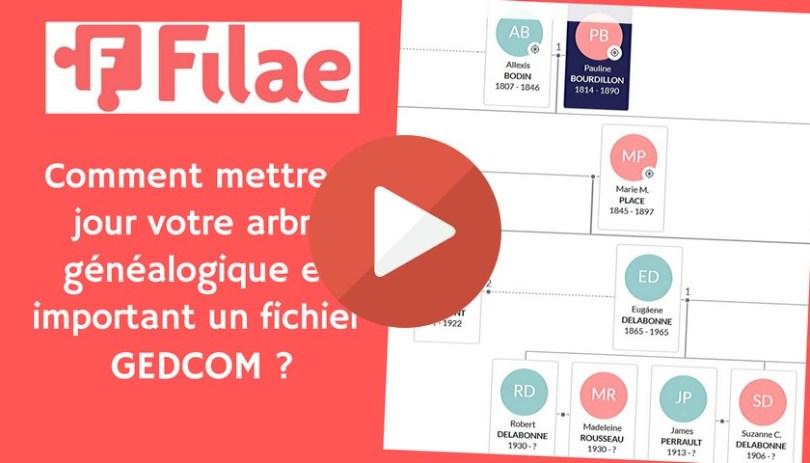 Filae : Comment mettre à jour votre arbre généalogique en important un fichier GEDCOM ?