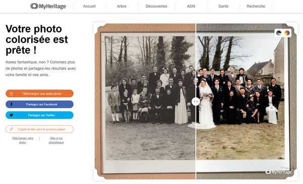 MyHeritage In Color - Photographie colorisée