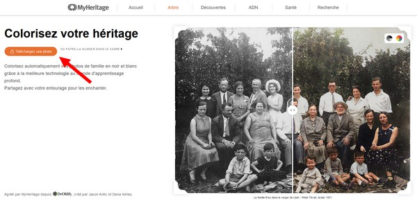 MyHeritage In Color - Telecharger une photo
