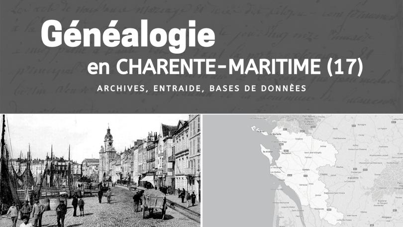 Généalogie en Charente Maritime 17