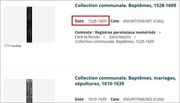 Comment consulter les registres paroissiaux en ligne _ Date de début des tenues des registres paroissiaux