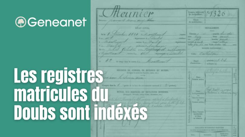 es registres matricules du Doubs sur Geneanet