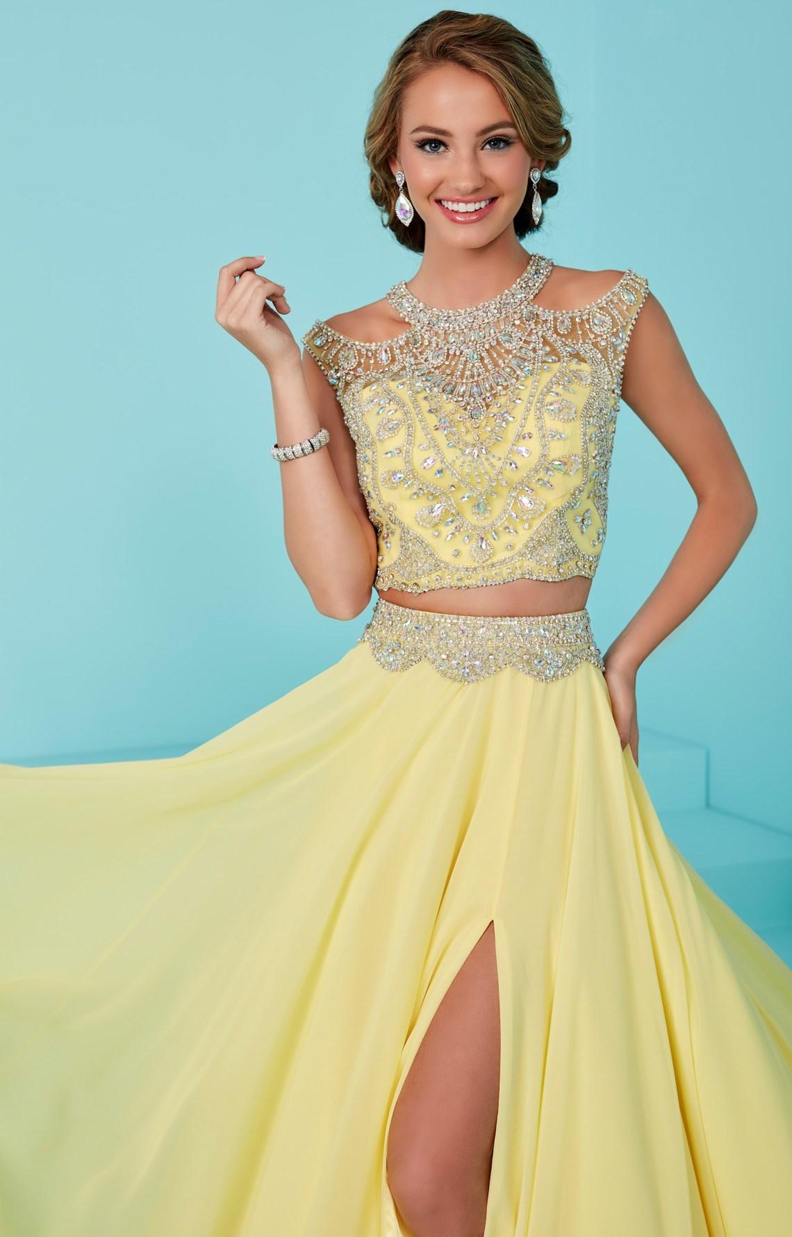 Tiffany Designs 16202 - 2 Piece Dress with High Slit Prom ...