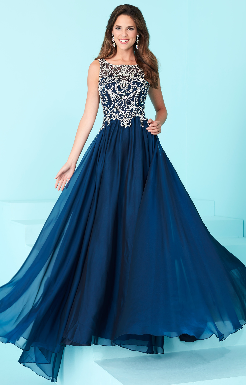 Navy Gown Blue Velvet Evening