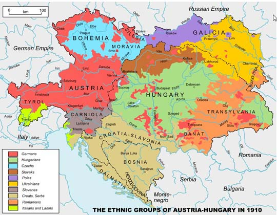 map Hungary 1910