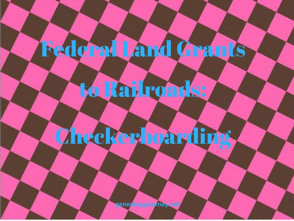 federal land grants checkerboarding