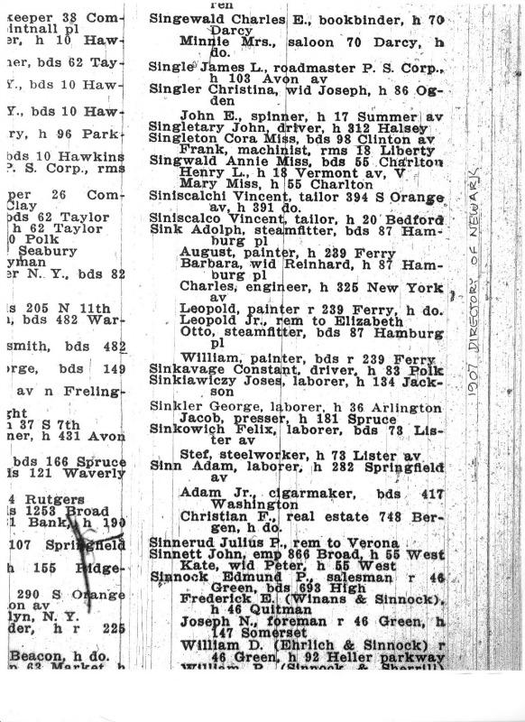 1907 Newark SINK
