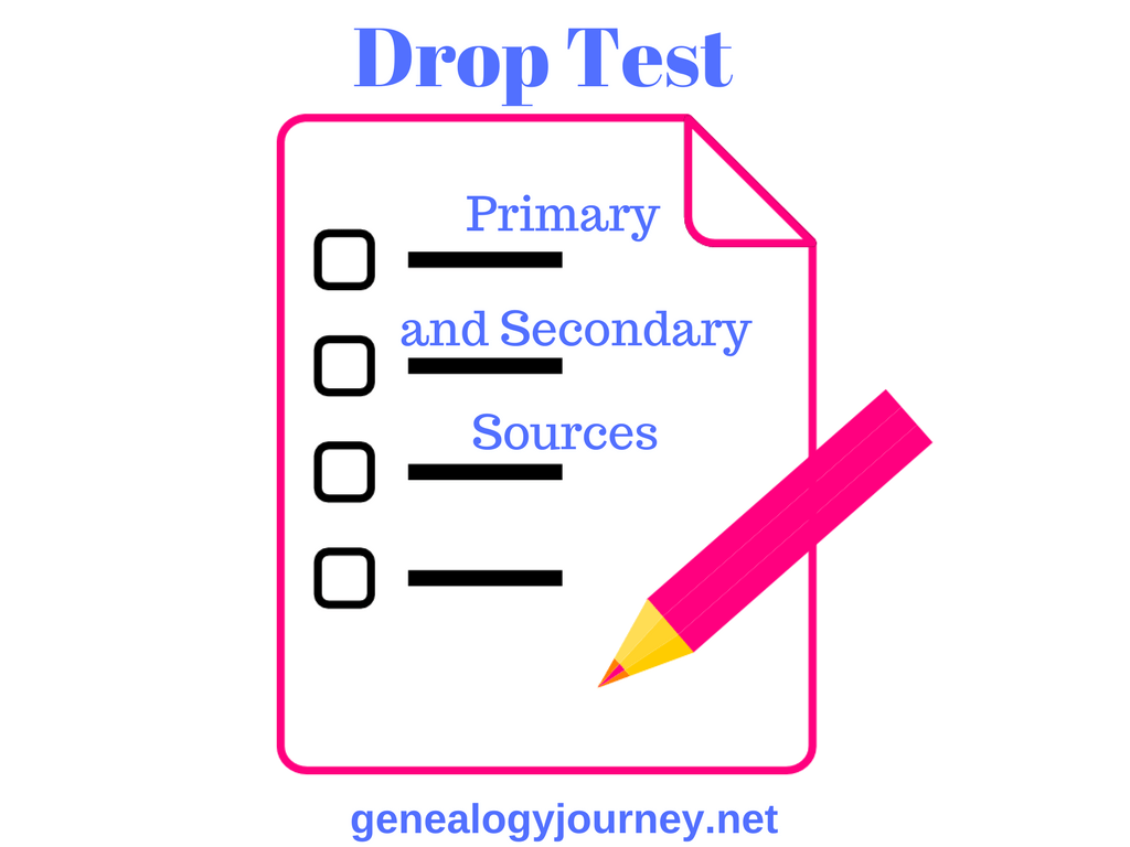 Drop Test Primary and Secondary Sources