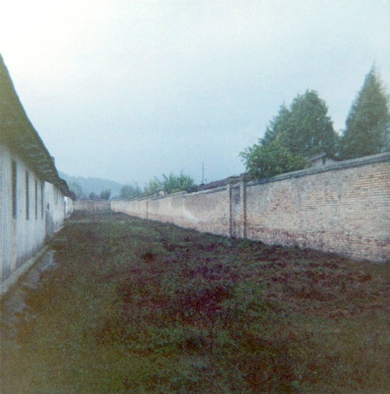 Camp 59 barracks and wall