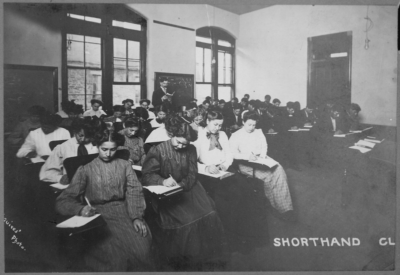 Girls Shorthand Class, Haskell Institute, Lawrence, Kansas, 1910