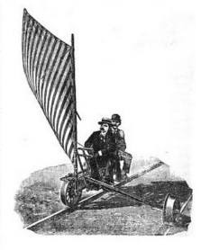 railway Velocipede With Sail
