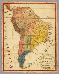 South America map 1816