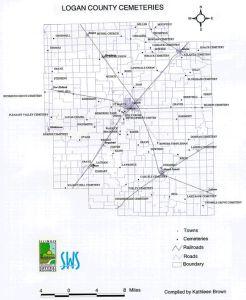Logan Cemeteries map