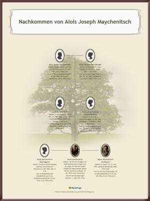 Recherchen zur Genealogie, Stammbaum von Aloys Maychanitsch