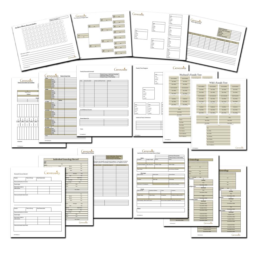 Pdf Printable Genealoy Sheets