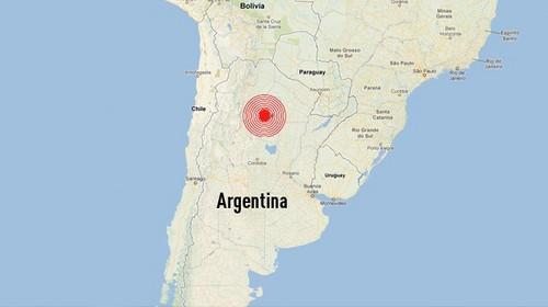 Un sismo de 5,9 grados sacudió  Argentina