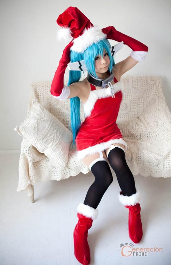46 Cosplay-Navideño-Hatsune-Miku-(Juego-musical)o-Vocaloid