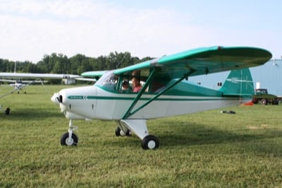 GRAND CHAMPION: Winning the top prize at this year's Short Wing Piper Club annual convention was Rick Michalek of Iowa and his 1953 Tri-Pacer. This year's convention, in Knoxville, Tenn., attracted 60 airplanes and more than 190 people.