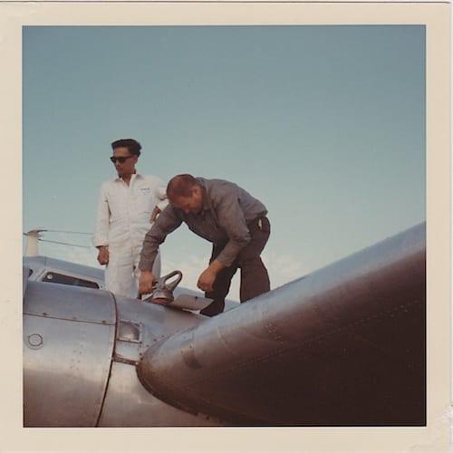 Lee refueling his wonderful Lockheed at Singapore in 1967.