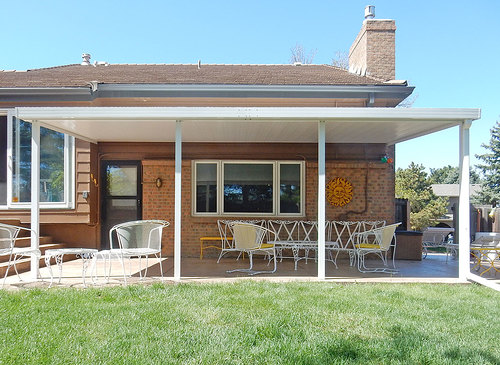 metal patio covers awnings Aluminum Patio Covers   General Awnings