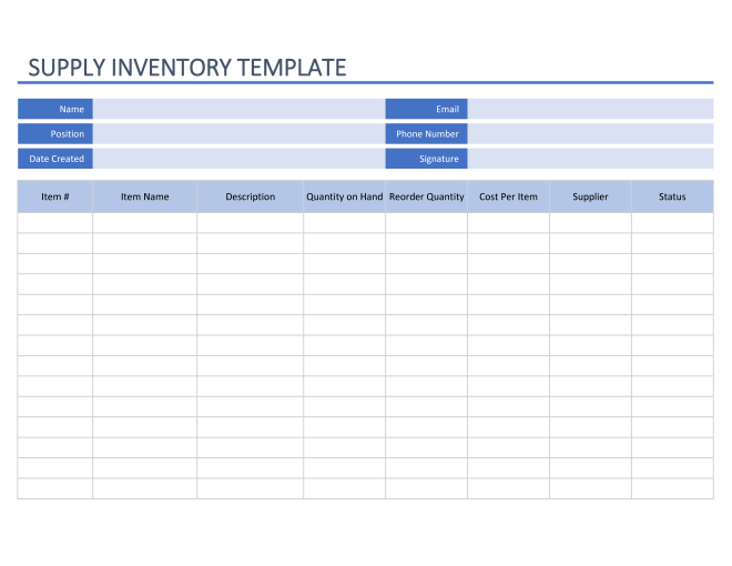 Use these tips to choose the ri. Office Inventory Templates