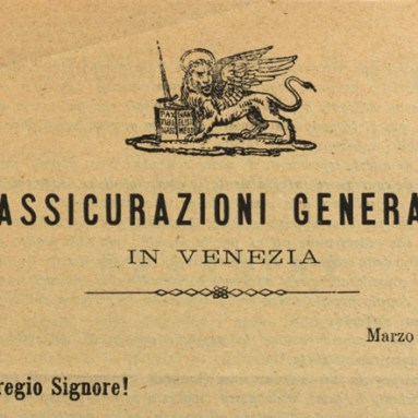 Volantino agenzia di Padova (1868), particolare del leone / ph. Duccio Zennaro