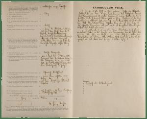 Franz Kafka's job application (Prague, 02.10.1907) / ph. Duccio Zennaro