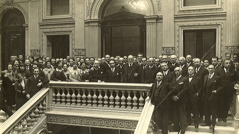 Michele Sulfina and the Staff of the Central Head Office (Trieste, 1927)