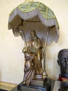 "Bronze lamp donated by the Romanian subsidiary ""Generala"" [1906]"