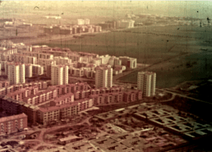 Frame from Case per il popolo with the construction of the Quadraro neighbourhood of the INA-Casa Plan (1953)