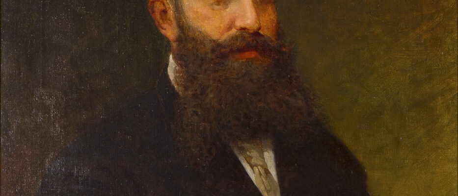 Eugenio Scomparini, ritratto di Marco Besso, olio su tela (1877) / ph. Massimo Goina