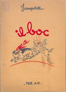 il Boc advertising pamphlet, cover (1928)