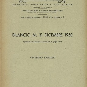 1950 Praevidentia Financial Statements (1951)