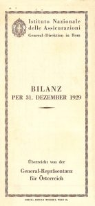 1929 financial statement of the Austria office (1930)