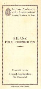 Bilancio dell'esercizio 1929 della rappresentanza in Austria (1930)