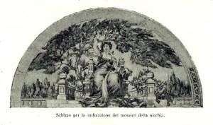 Luca Beltrami, Previdenza, schizzo [1900]