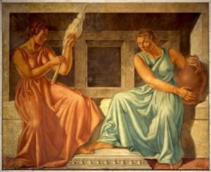 Carlo Sbisà, Insurance, fresco (1937), ph. Paolo Bonassi