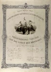 Life insurance policy (1844), ph. Duccio Zennaro
