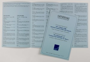 """Programme of the 2nd international conference about """"The Developments of Commercial Activities in Space"""", organized by Generali (Rome, March 3-4, 1983)"""