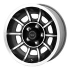 Staggered AR VN475 Vector 15x715x85 5x1143 +0mm Black Machined Wheels Rims