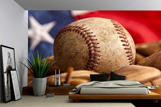Play Ball Wall Mural Ideas
