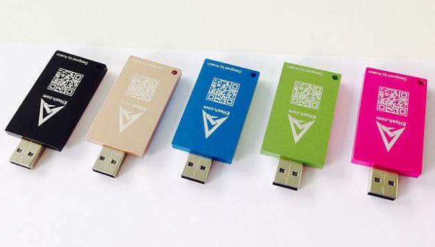 Un ensemble de clés USB