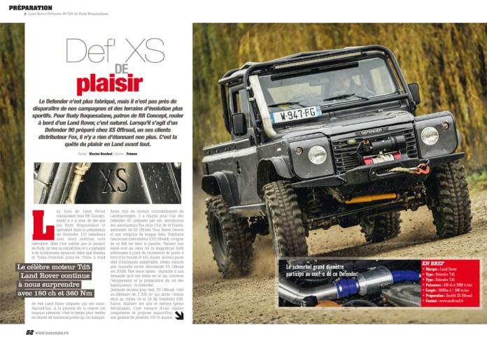 préparation Land Rover Defender 90 Td5