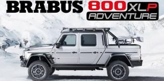 Brabus Mercedes G de 800 ch pick-up 800 Adventure XLP
