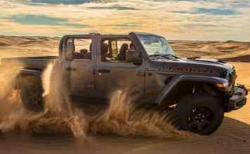 """""""Desert Rated"""" qu'on trouvera sur les flancs du nouveau Pick up Wrangler Gladiator Mojave."""
