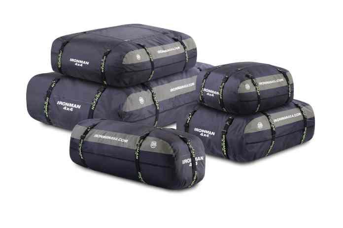 une gamme de sac de galerie étanche contenant de 200 à 600 L
