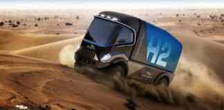 """Dakar Un camion Hydrogène Gaussin et son camion """"Propre"""" en 2022"""