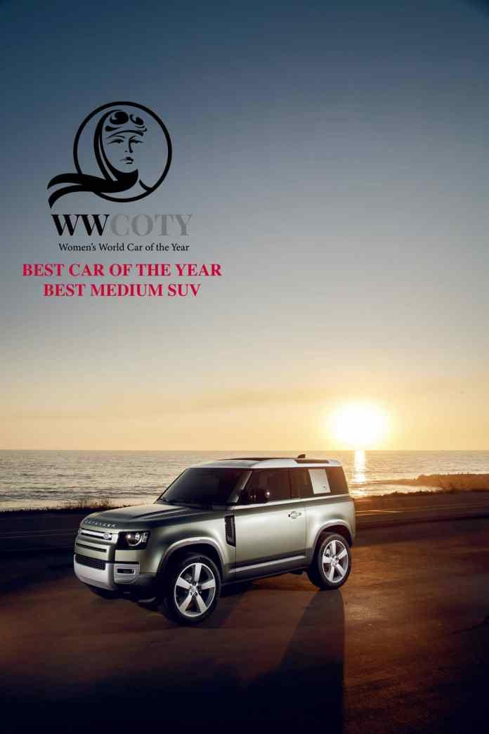 Land Rover Defender meilleur SUV moyen 2021 Le chouchou de ses dames du WWCOTY!