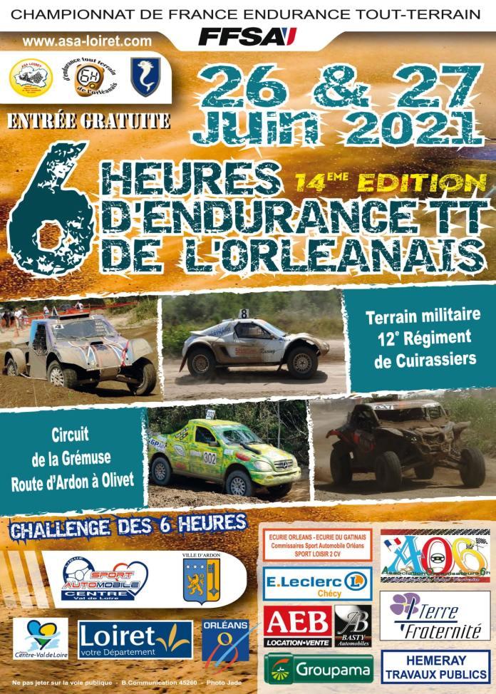 Championnat de France d'Endurance 4x4 2021 6H d'Orléans 14e édition fin juin